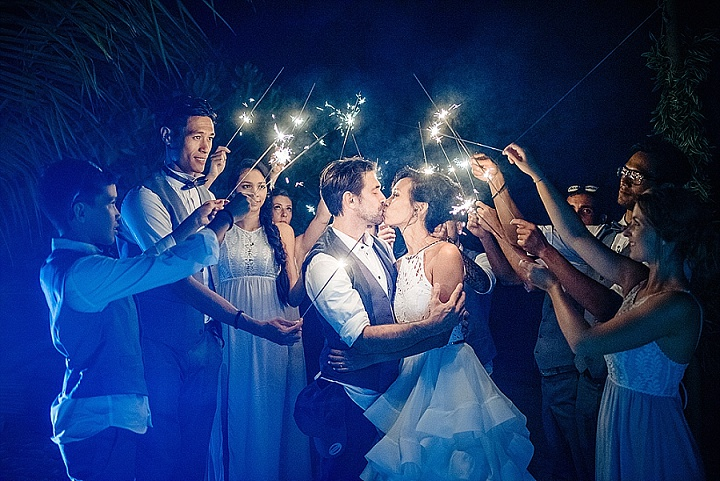 Nicolas and Maureen's 'Casual Chic' Tropical Tahiti Beach Wedding by Photography By Soven