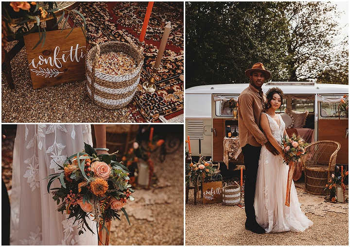 'Earthy Bohemian' Cosy, Intimate and Romantic Autumnal Wedding Inspiration