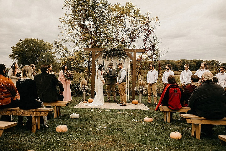 Trista and Sam's 'Bohemain Dream' Outdoor Autumnal Wedding by Alder and Root Photography