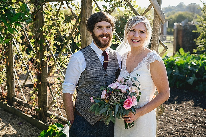 Christine and Rich's Rustic Micro Wedding at River Cottage by Helen Lisk