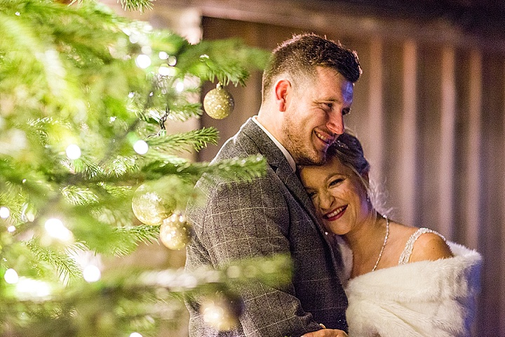 Grady and Leanne's Winter Wonderland Christmas Barn Wedding in Gloucestershire by Courtney Louise Photography