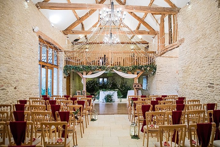 Gradyand Leanne's Winter Wonderland Christmas Barn Wedding in Gloucestershire by Courtney Louise Photography
