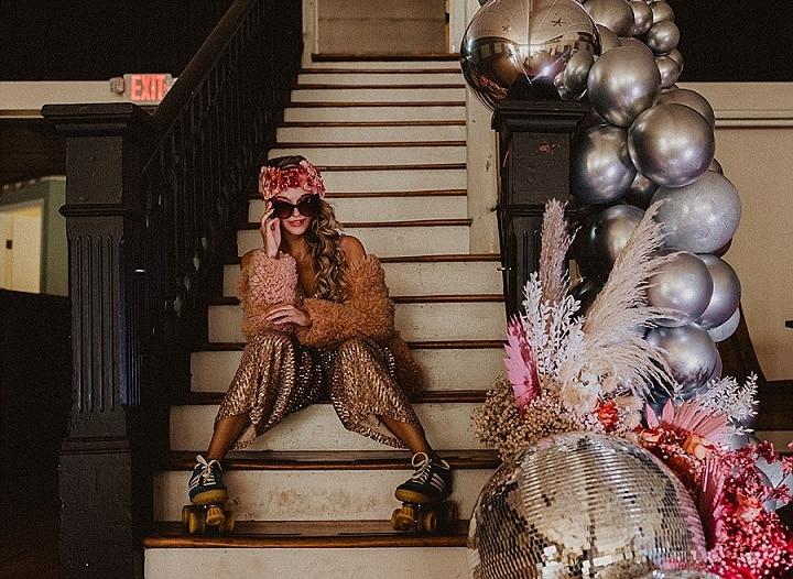 'Retro Vibes' Roller Disco Elopement Inspiration