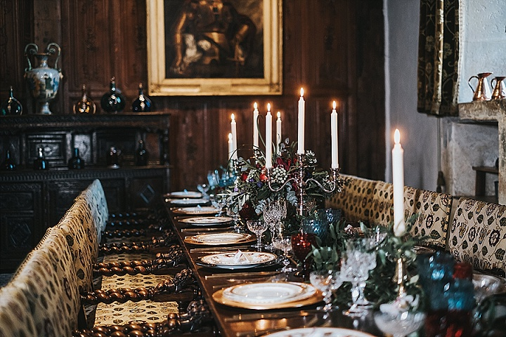 'Romance at The Castle' Classic Contemporary Wedding Inspiration with a Festive Twist