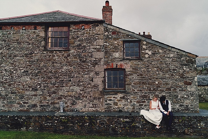 Suzy and Ben's Fun Festival Beach Wedding in Cornwall by Miki Studios