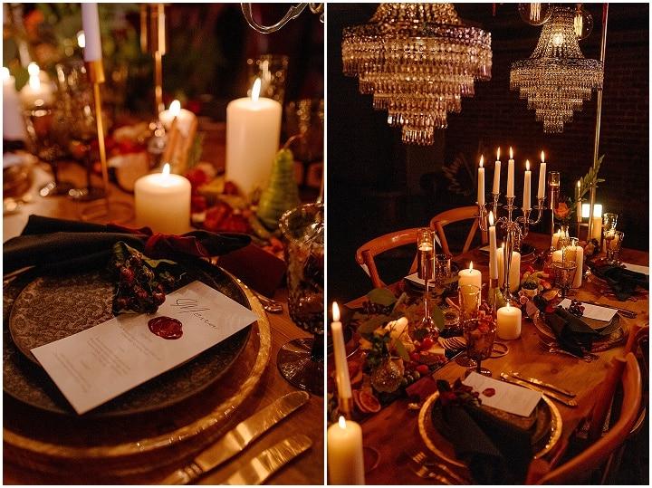 'Modern, Gothic Romance' New Years Eve Wedding Inspiration