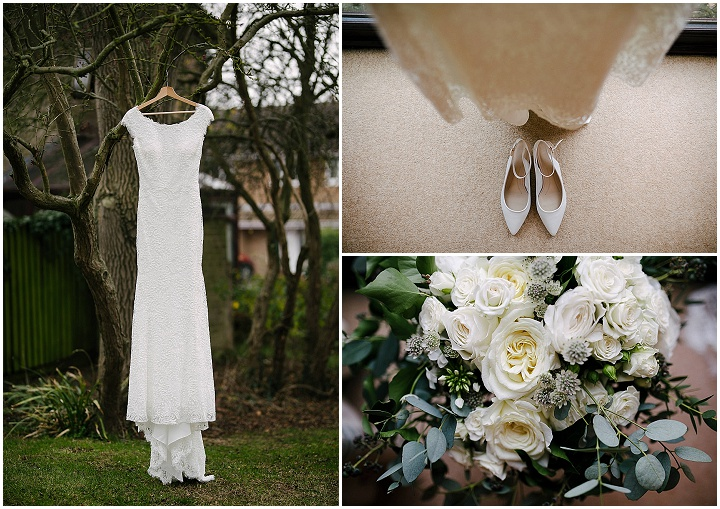 James and Natalie's Elegant Green and White Christmas Themed Wedding by Aden Priest