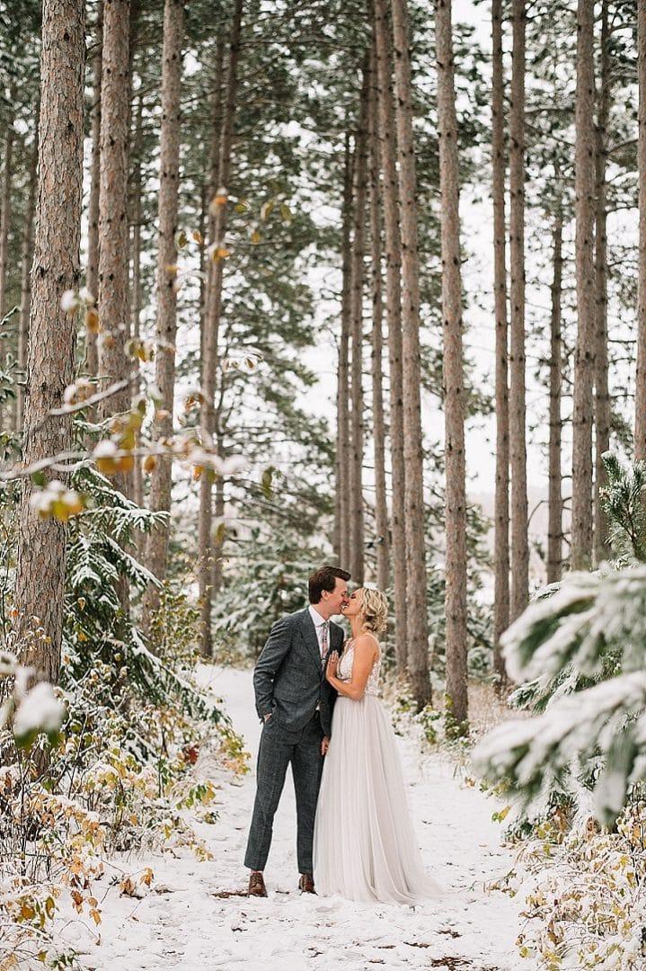 Katieand Tyler's Snowy Minnesota Wedding by Adam Kennedy Photography