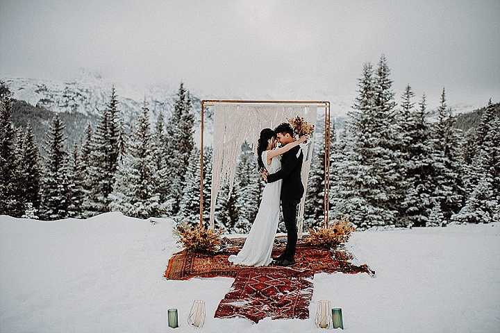 'Winter Romance' Magical, Snowy, Winter Elopement Inspiration