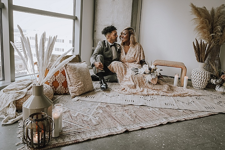 'Urban Boho Glam' - Florida Roof Top Micro Wedding Inspiration