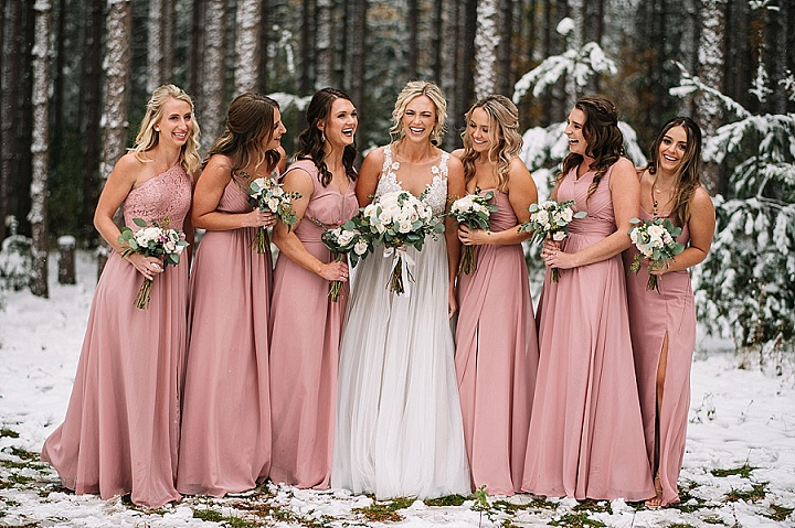 Katie and Tyler's Snowy Minnesota Wedding by Adam Kennedy Photography