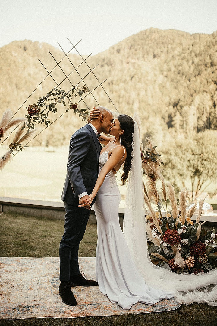 Stephany and Georges' 'Boho Chic' Slovenian Wedding With a Glamourous Edge
