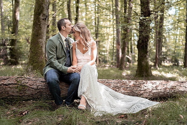 Eva and Michel's 'Colours of The Forest' Intimate, Romantic and Magical Forest Wedding in Switzerland by Yvo Greutert