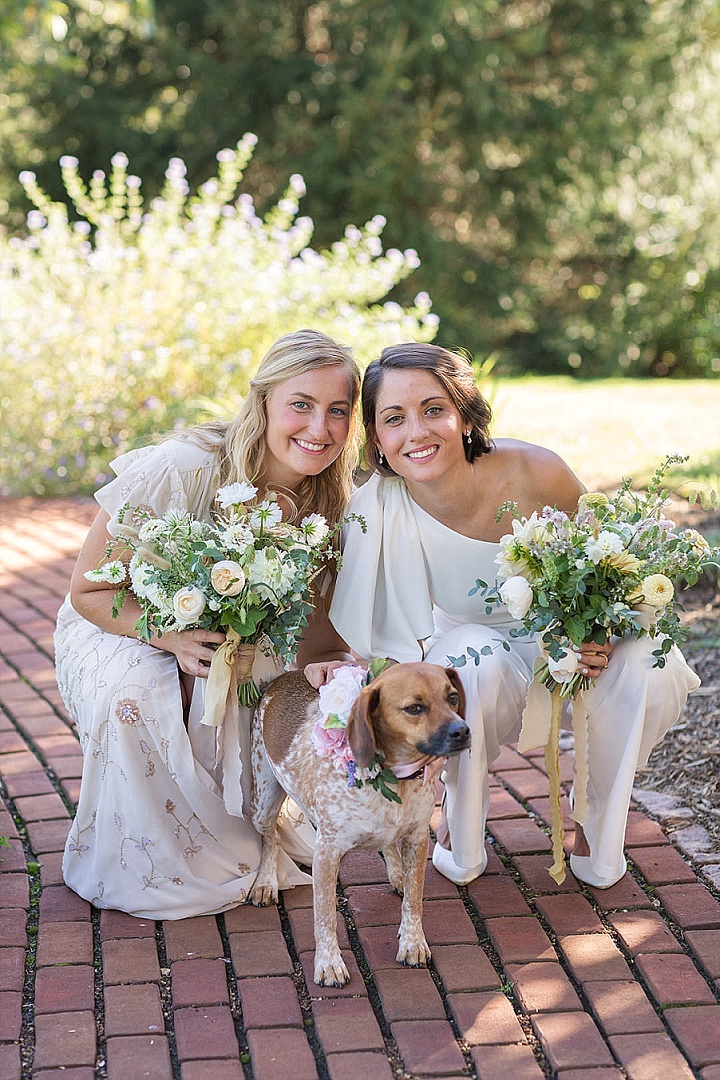Liv and Hannah's Animal Friendly Backyard Micro Wedding by Sydney Kane Photography