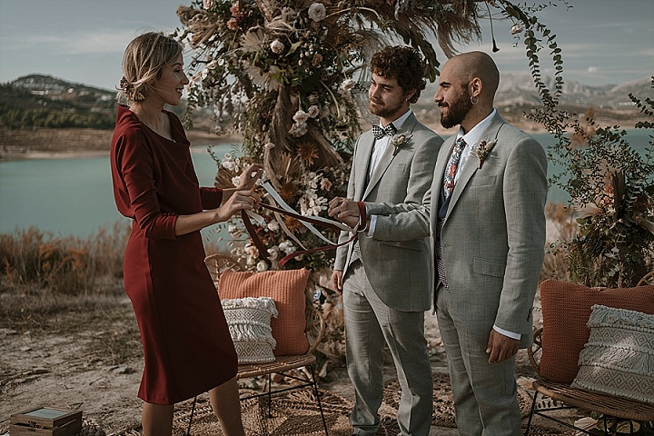 Kevin and Alvaro's 'Hipster Meets Boho' Spanish Elopement by Marbella Wedding