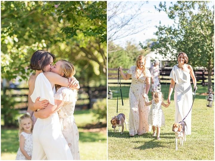 Liv and Hannah's Animal Friendly Backyard Micro Wedding by Sydney Kane Photography