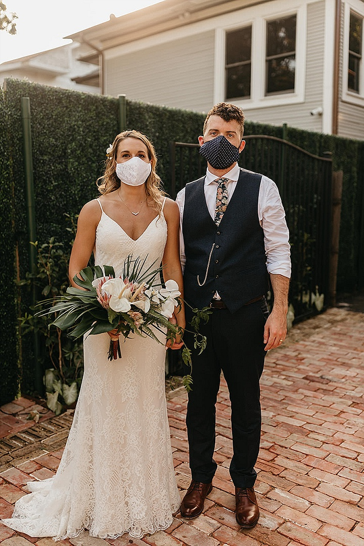 Megan and Zack'sTropical Themed Micro Wedding in Texas