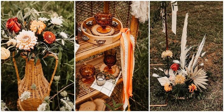 'Be Groovy' 70's Inspired Flower Child Wedding Inspiration
