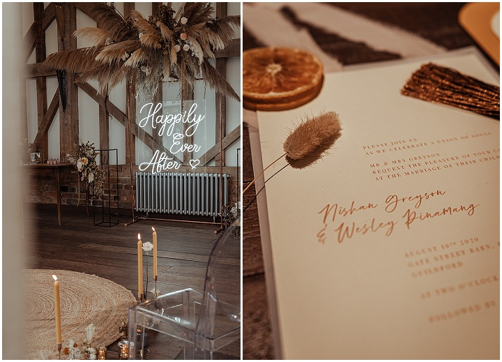 'Modern Bohemian' White and Dusty Pink Wedding Inspiration With Accents of Mustard