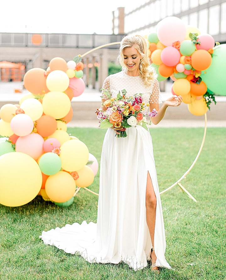 'Citrus Fun' Colourful, Modern, Balloon Filled Spring Wedding Inspiration