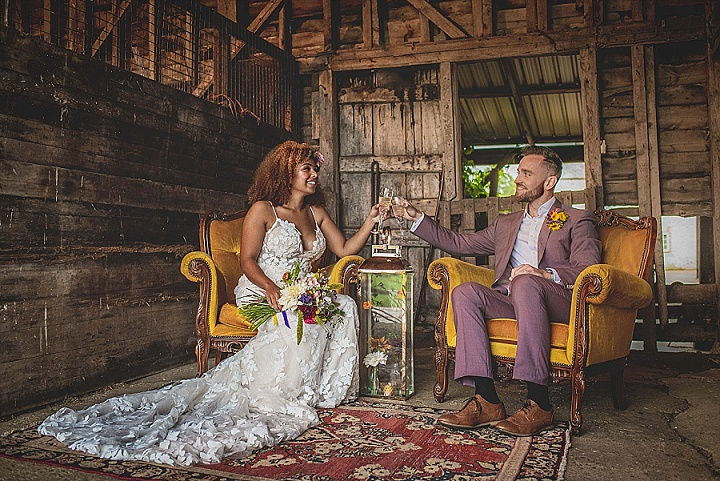 'Fun and Colour' Vibrant Rustic Farm Wedding Inspiration