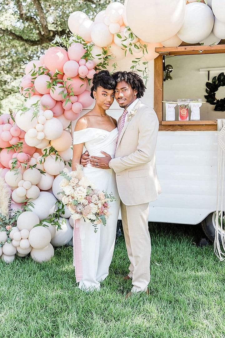 'Pastel Boho' Modern Balloon Filled Wedding Inspiration