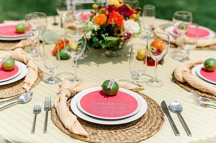 'Citrus Fun' Colourful, Modern, Balloon Filled Spring Wedding Inspiration