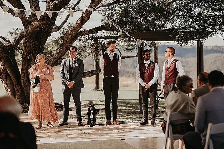 Laura and Sam's Whimsical Outdoor Australian Wedding with Boho Vibes and Moody Florals