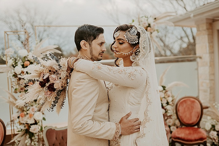 Sabeen and Mohammad's 'Pampas Boho' Rooftop Pakistani Wedding at home by Lana Del Mar Photo