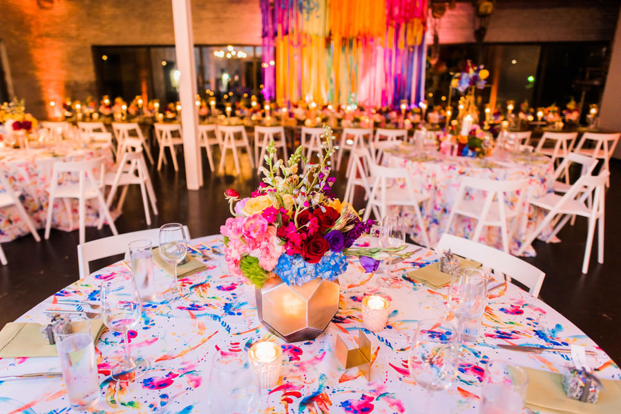 Tyler and Karim's 'Bright Boho' Balloons and Ribbon Filled Colourful Wedding by Nate Messarra Photography
