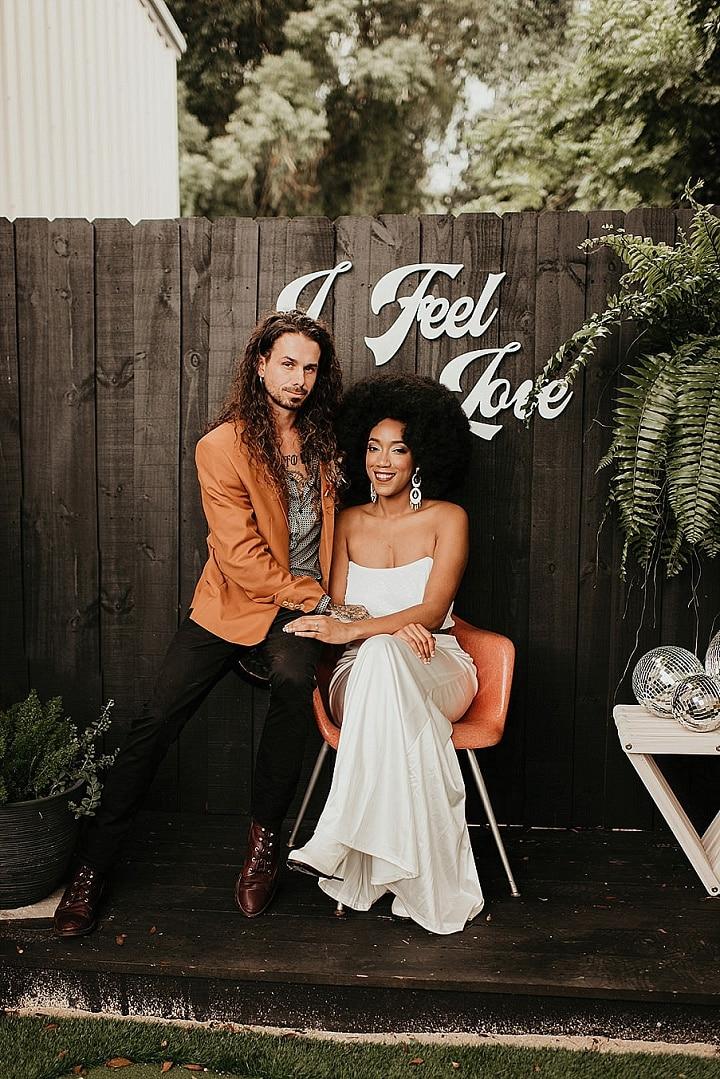 'I Feel Love' 70s Disco Wedding Inspiration