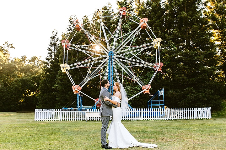 Caroline and Alex's 'Modern Boho' Art-Deco Malibu Wedding