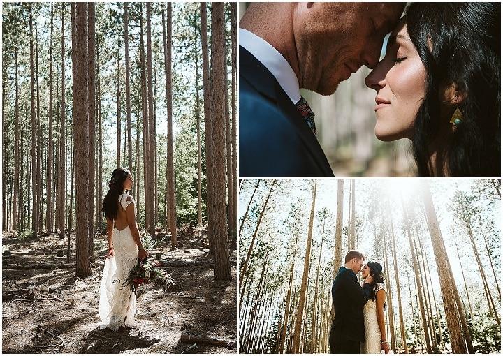 Danielle and John's 'Earthy Boho' Nature Loving Michigan Wedding by Jean Smith Photography