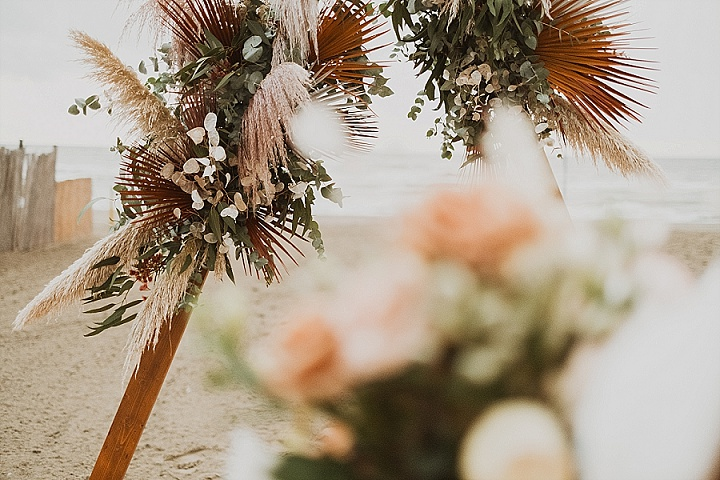 Carolina and Leon's Mustard, Gold and Earth Tones Beach Wedding in Rome by 913 Art
