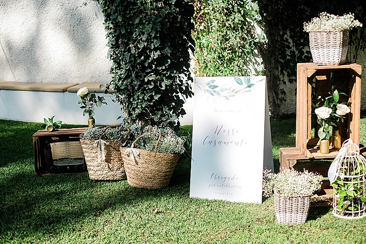 Patrícia and Christopher's White, Gold and Olive Green Portugal Wedding by Ana Pastoria