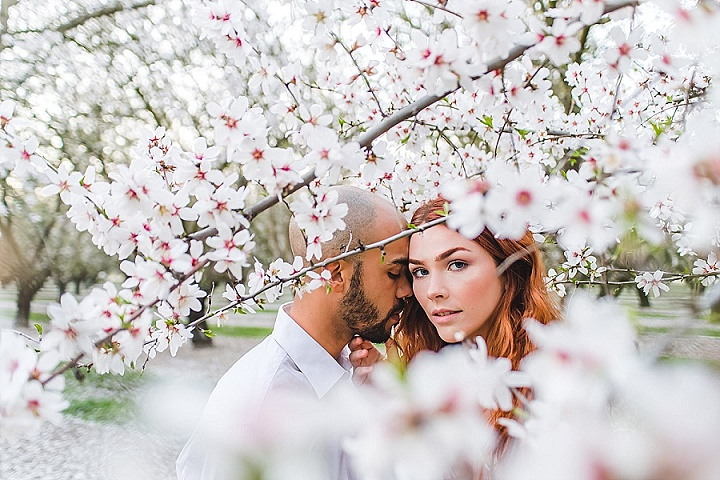 'Glam Boho' Almond Blossom Picnic Elopement Inspiration
