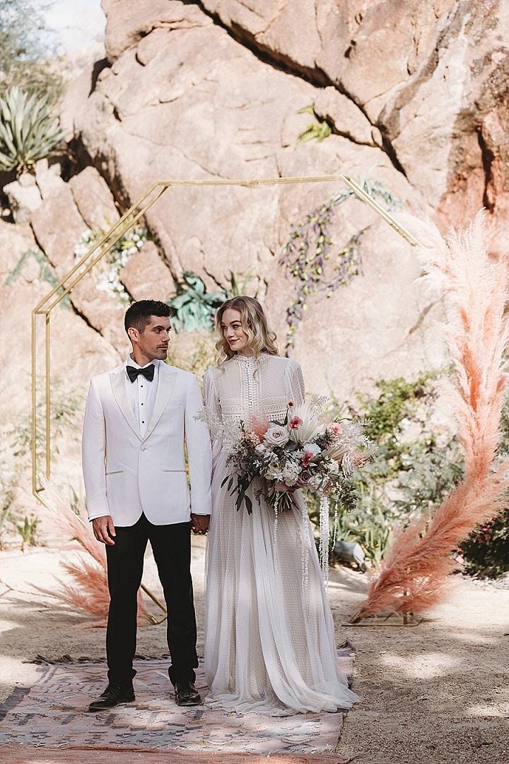 'Dreamy Bohemian' Pretty Pastel Palm Springs Wedding Inspiration