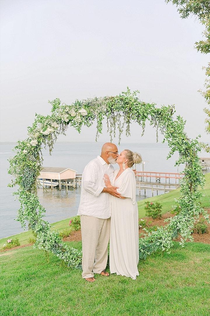 Wanda and Scottie's Intimate Backyard Wedding in South Carolina by Catherine Hurt Photography