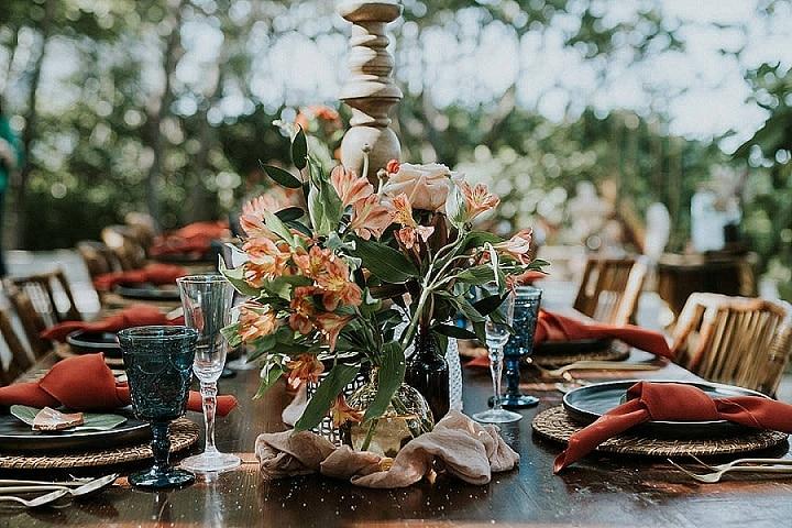 Terra Cotta Boho Chic Florida Beach Wedding Inspiration