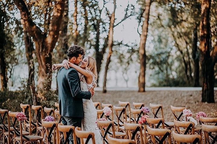 Giuseppe and Mariangela's Wonderful Woodland Wedding in Italy by Franceco Caroli
