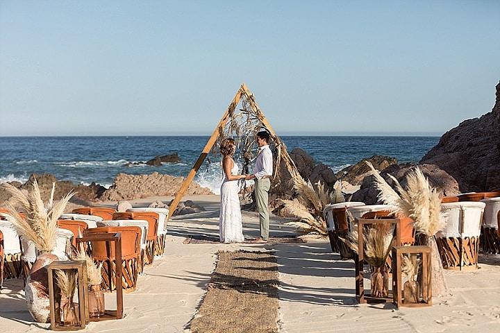 'Beach Boho' Secluded Mexican Beach Wedding Inspiration