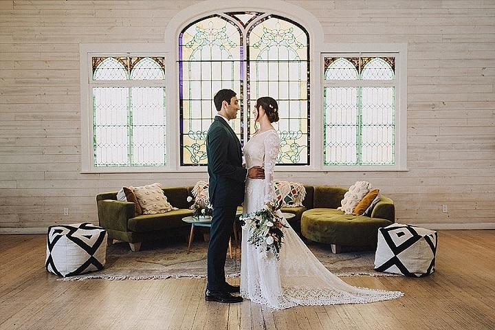 Jorie and Devin's 'Botanical Meets Geometric' Modern and Creative LA Wedding by Mandee Johnson Photography