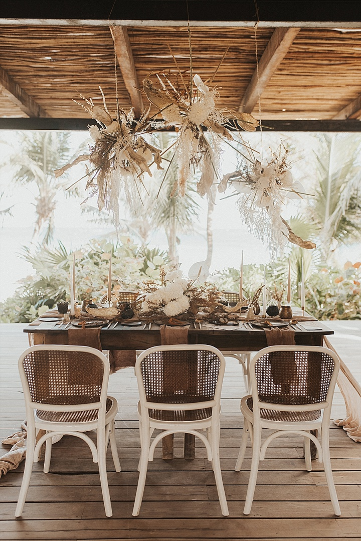 'Celestial Boho' Sustainable Beach Elopement Inspiration