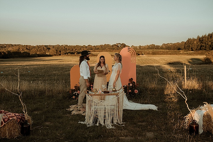 'Wedstock' 70s inspired Summer of Love Festival Wedding Inspiration