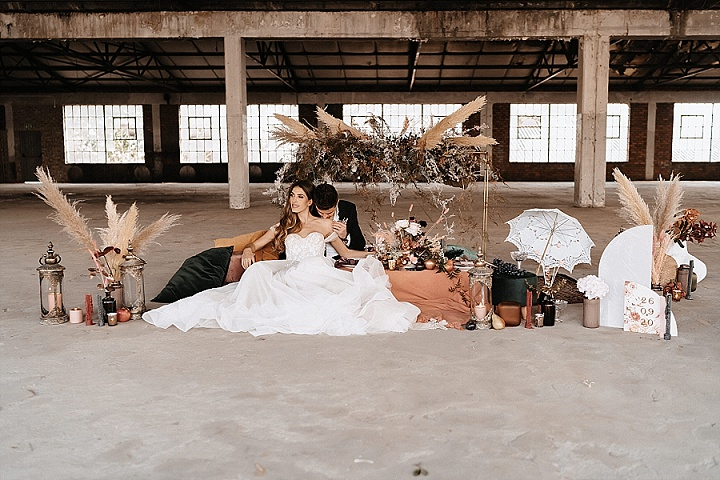 'Bold Boho' Warm Luxe Meets Cool Industrial Wedding Inspiration