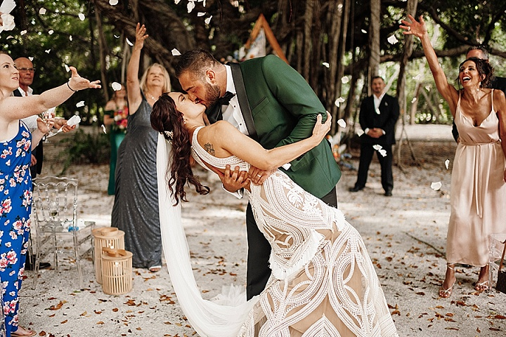 Chynna and Sterling's 'Modern Boho' Private Island Florida Wedding All Planned in 4 Weeks