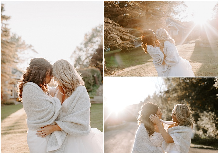Jenna and Mary's Intimate Backyard Wedding in Western New York by Anomaly Photography & Design