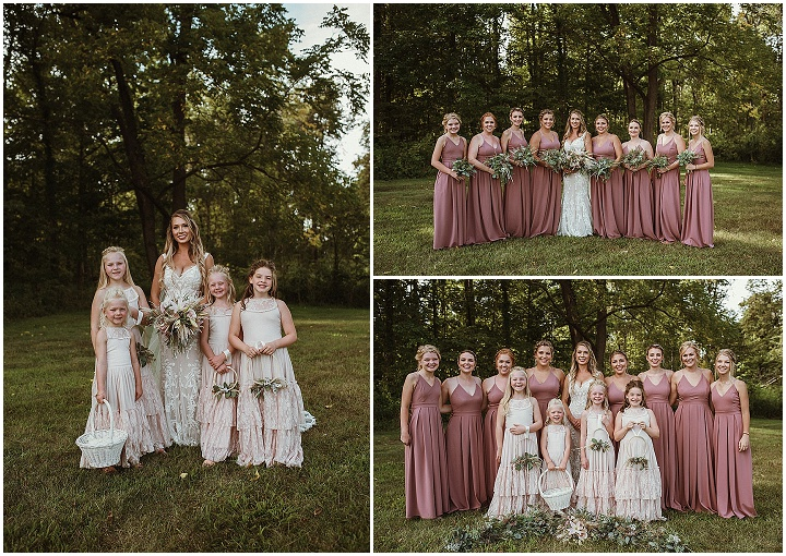 Raylee and Ethan's Romantic and Rustic Country Styled Indiana Wedding by Just Jess Photography