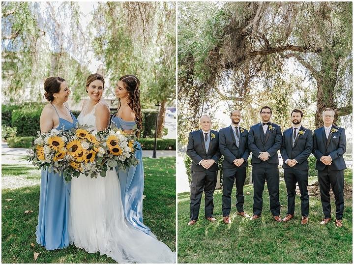 Ciera and Bruce's Joyful Sunflower Filled Backyard California Wedding by Lisette OC Photography