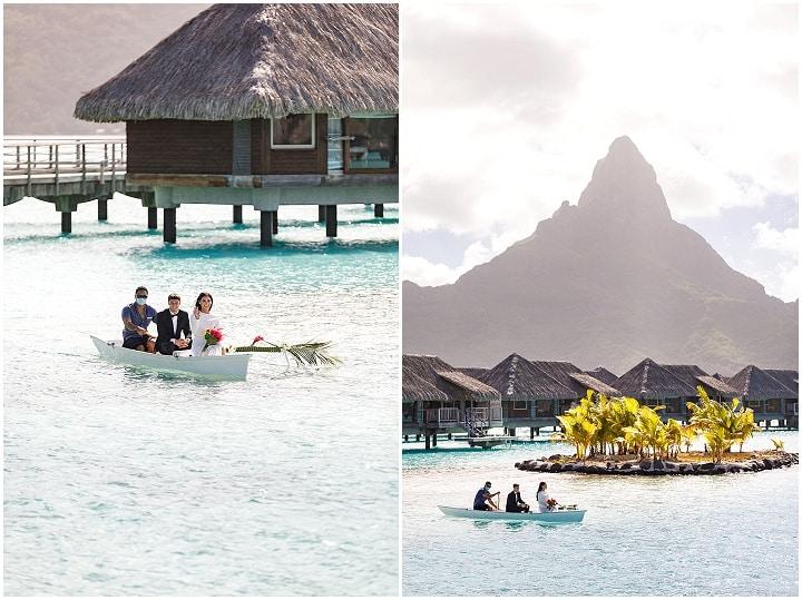 Travis andDevon's Romantic Sunset Beach Wedding in Bora Bora by Damien Gobron